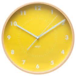 Wall clock yellow modern wall clocks by wolf