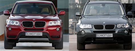 size difference between bmw x3 and x5 photo comparison vs new bmw x3
