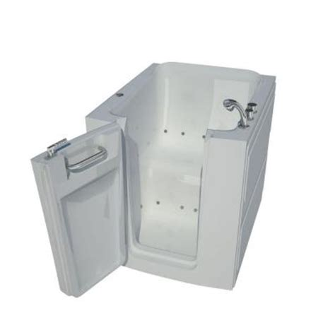 Walk In Bathtubs Home Depot by 2 6 Ft X 38 In Air Jetted Walk In Bathtub In White