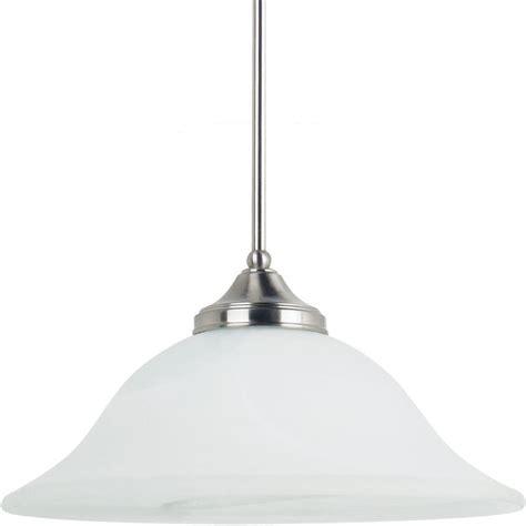 sea gull lighting brockton 1 light brushed nickel pendant