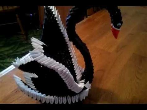 3d origami winged swan tutorial 3d origami black swan youtube