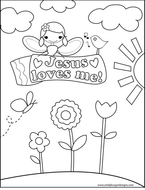 6 Best Images Of Jesus Loves Me Printables Printable Jesus Me Coloring Page