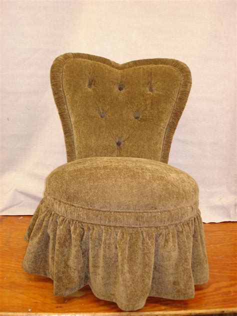regal looking vanity chair with skirt white cotton upholstered vanity chair with pleated skirt