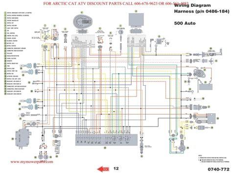 arctic cat 400 wiring diagram wiring forums