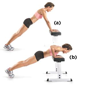 bench push up upper body workout get gorgeous arms