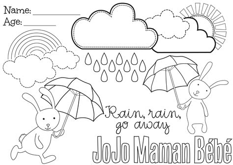 coloring pages for rain rain go away free rain rain go away coloring pages