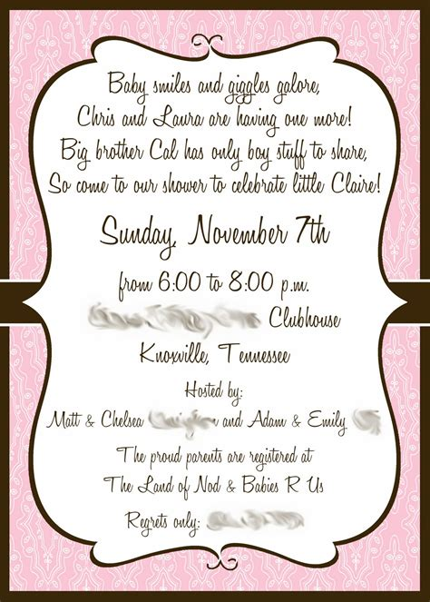 how to make baby shower invitation wording invitations