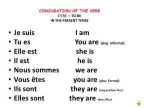 le verbe etre le cours de fran 231 ais