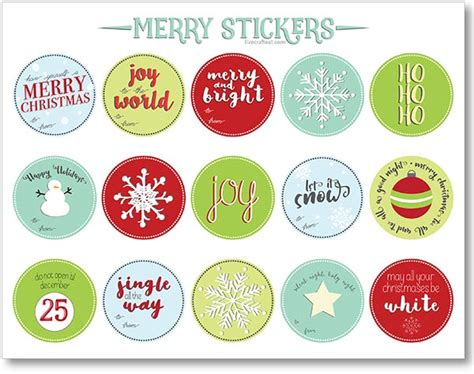 Label Sticker Merry free printable gift tags and labels live craft eat