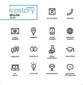 modern resume icons free sles exles format