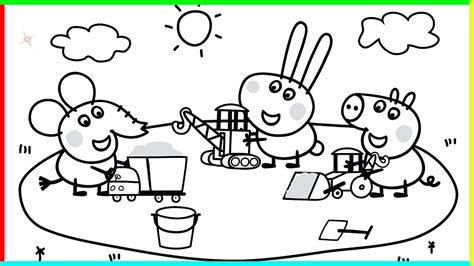 Peppa Pig Coloring Page Printable Coloring Image Family Coloring Book L