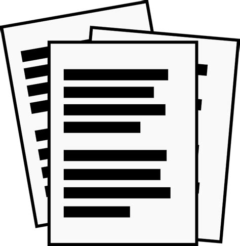 Documents Clipart Free Vector Graphic Notes Office Pages Papers Print