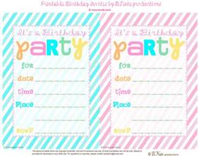 bnute productions free printable striped birthday invitation