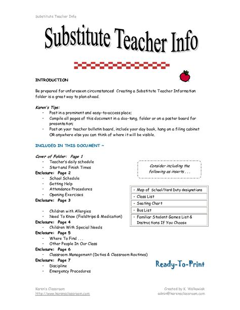 substitute teacher cover letter substitute teacher resume