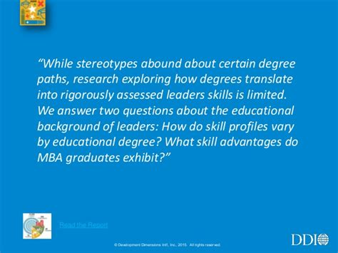 Mba Program Stereotypes by High Resolution Leadership Study