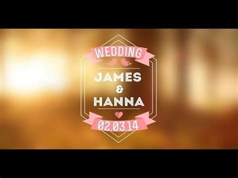 Wedding Titles Vol 2 After Effects Template Youtube Wedding Title Templates