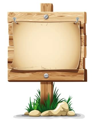 board free wooden board with grass vector free vectors ui