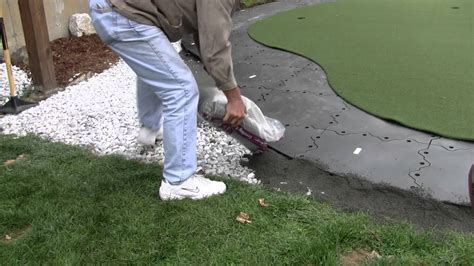 installing a putting green in your backyard building a backyard putting green youtube