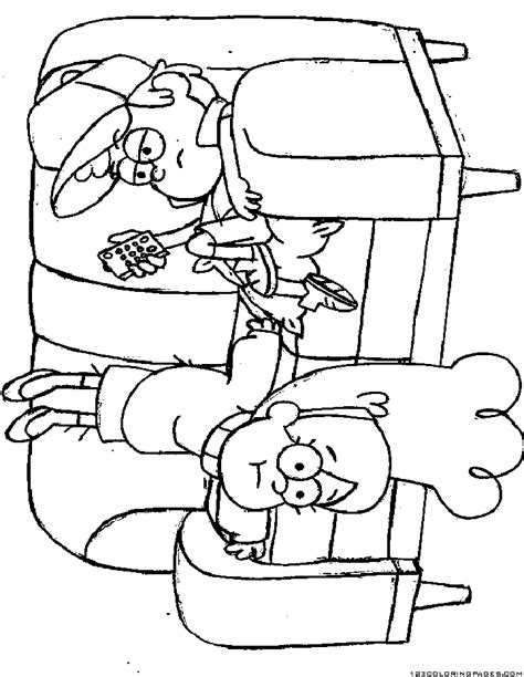 free coloring pages of gravity falls waddles