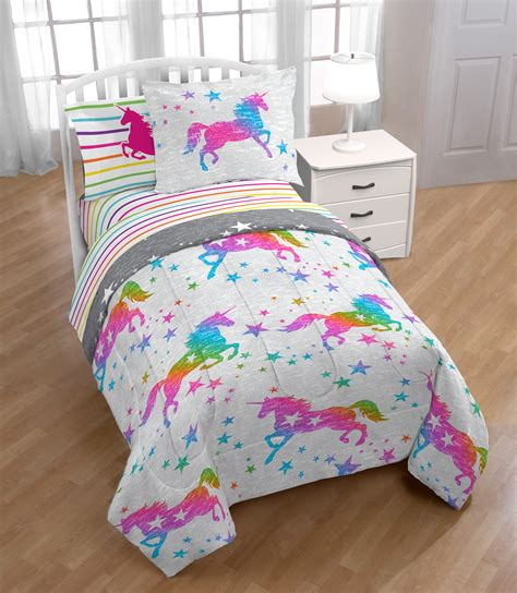 unicorn bedding twin unicorn magic 5 pc kids twin comforter and sheet set