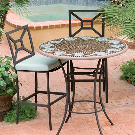 "KNF Garden Designs Mosaic High Dining Table   42""   CT36"