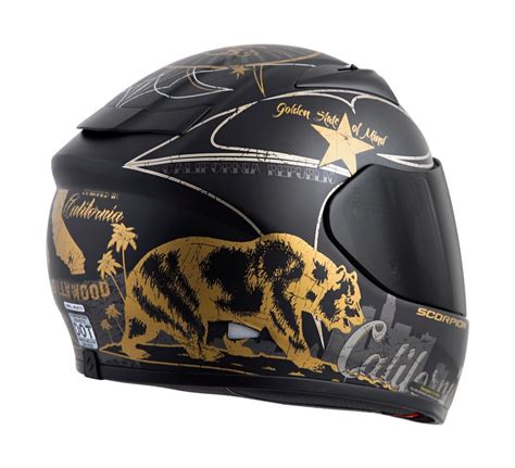 scorpion motocross helmets 209 95 scorpion exo r710 golden state full face helmet