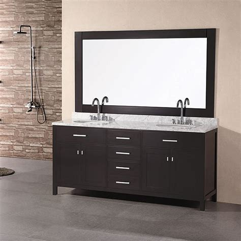design element london 72 in w x 22 in d double vanity in shop design element london espresso undermount double sink