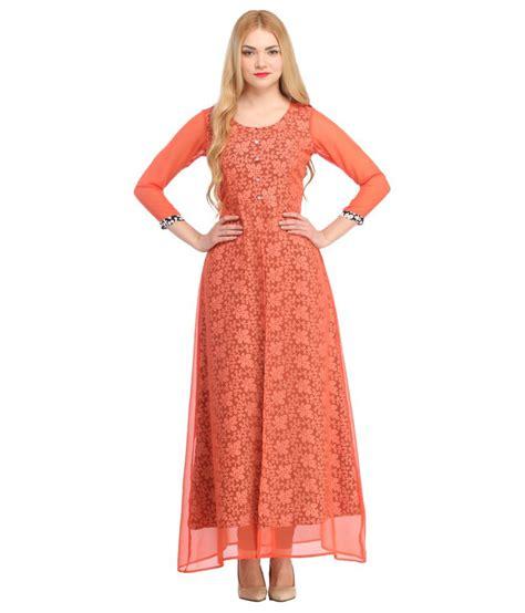 Maxi Catarina Crepe 2 cottinfab orange poly crepe maxi dress buy cottinfab orange poly crepe maxi dress at