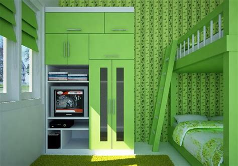kamar tidur bernuansa hijau menyegarkan  file