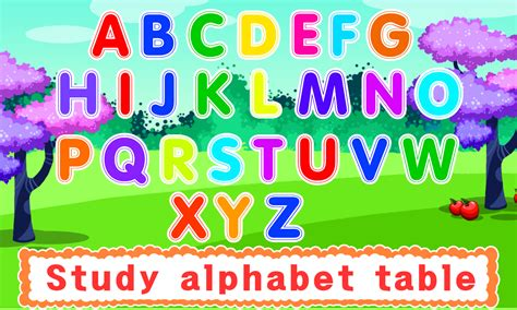 the that ate the alphabet learning abc s alphabet a to z fruits vegetables rhymes book ages 2 7 for toddlers preschool kindergarten series books handwriting abc learning android apps on play