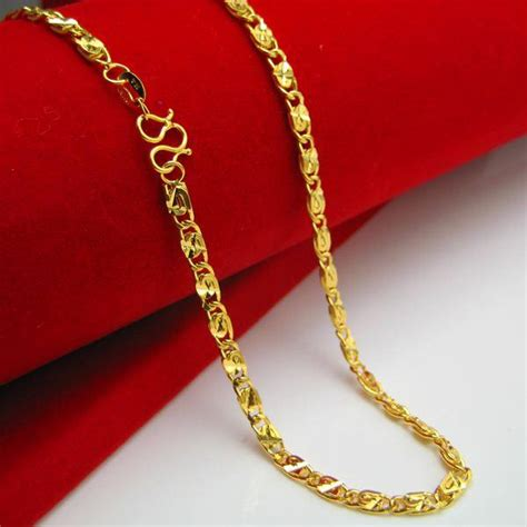 Kalung Clavicle Gold Necklace wholesale gold necklace does not fade 18k gold plated