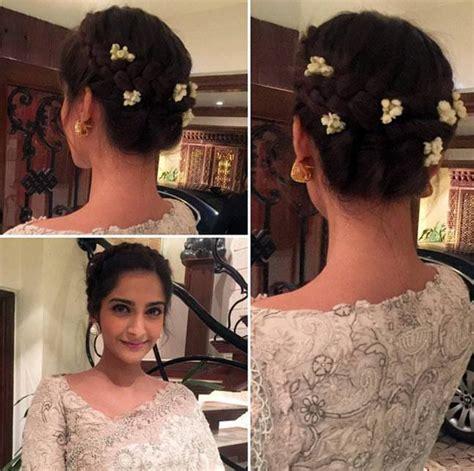 sonam kapoor hairstyles in saree best sonam kapoor bun hairstyles for indian wedding and