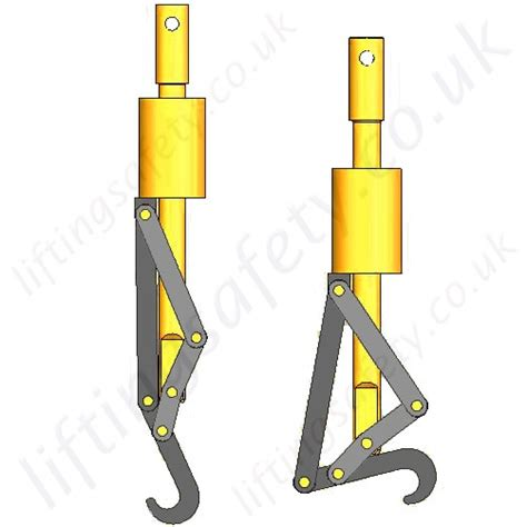 Release Hook automatic release lifting hook range from 1000kg to