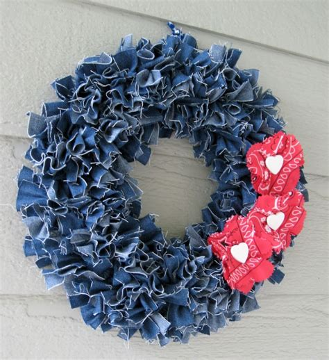 Fish Home Decor Accents by How To Make A Denim Wreath