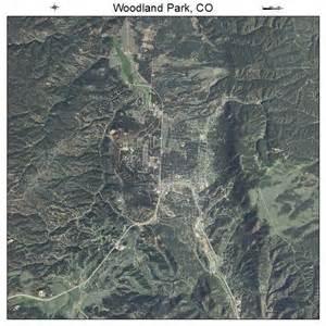 aerial photography map of woodland park co colorado