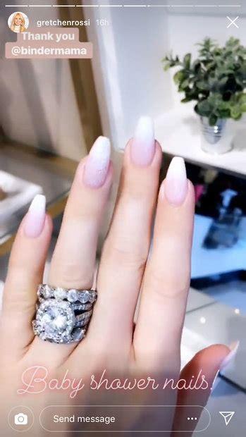 gretchen rossi s huge wedding ring baby shower nails