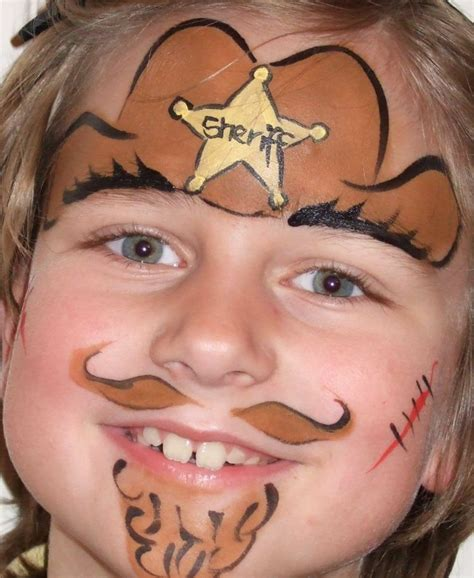 fensterbrett für katzen kinderschminken fasching sheriff cowboy western bart hut