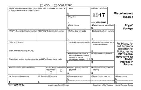 2017 1099 Form Printable
