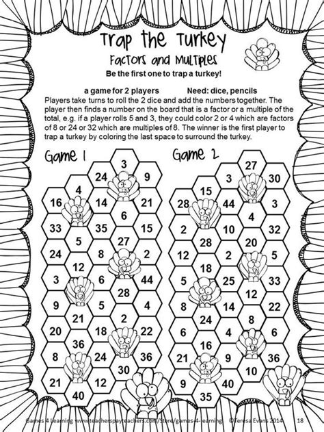 thanksgiving coloring page 4th grade thanksgiving math games fourth grade fun thanksgiving