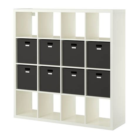 Ikea Register by Kallax Shelving Unit With 8 Inserts Ikea