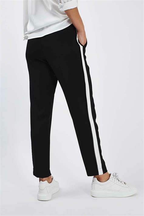 Celana Side Stripe Colour Ts side stripe peg trousers new in fashion new in topshop