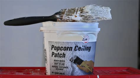 how to patch a in the ceiling easy fix popcorn ceiling patch repair with brush