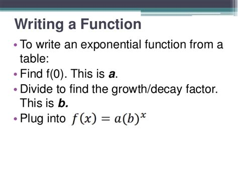 Exponential Function Table by 3 2 Exponential Function Tables