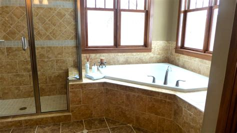 corner bathtub ideas corner tub with shower ideas