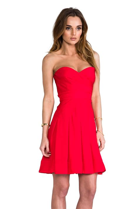 Dress Benita catherine malandrino benita bustier dress in vermilion lyst