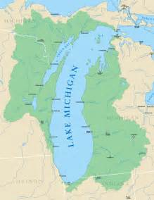 Michigan Lakes Map by How Are Lake Michigan Water Levels Illinois State