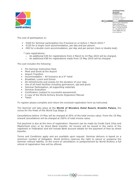 Conference Delegate Invitation Letter 1222 Org Seminar Invitation Letter