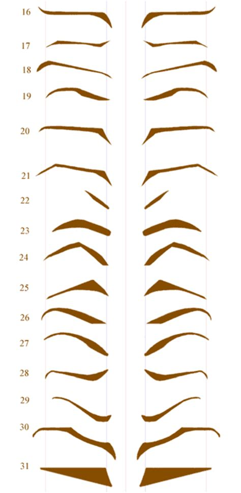 eyebrow shaping template untitled document www g36 net