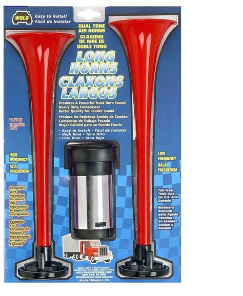 wolo 417 horns air powered horn 12 volt 120 decibels 410 440 hz ebay