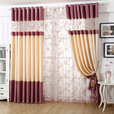 purple and beige curtains romantic purple and beige living room curtain